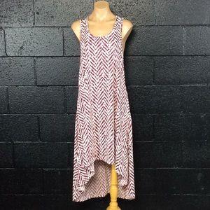 Burgundy Print Long Dress